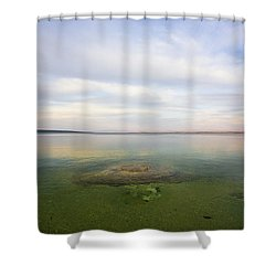 Fishing Cone At Sunset Shower Curtain