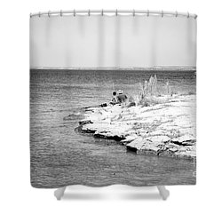 Shower Curtain featuring the photograph Fishing by Erika Weber