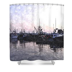 Fishing Fleet Ffwc Shower Curtain by Jim Brage