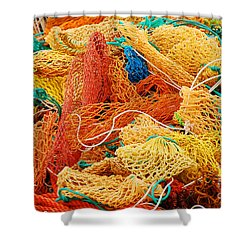Fishing Float Nets Shower Curtain