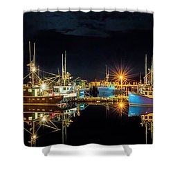 Fishing Hamlet Shower Curtain
