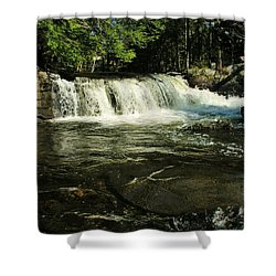 Shower Curtain featuring the photograph Fishing Hole by Sherman Perry