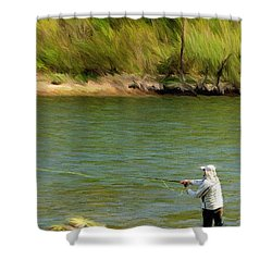 Fishing Lake Taneycomo Shower Curtain by Jeffrey Kolker