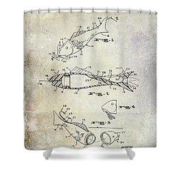 Fishing Lure Patent 1959 Shower Curtain