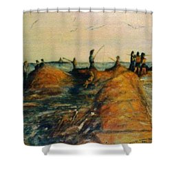 Fishing Near New Haven Shower Curtain