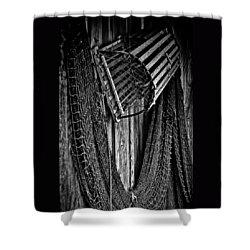 Fishing Net And Trap Shower Curtain