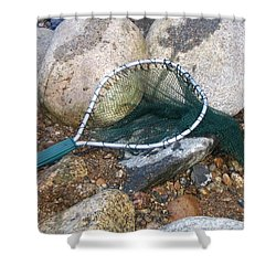 Fishing Net Shower Curtain by Kerri Mortenson