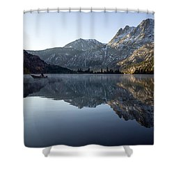 Fishing On Silver Lake  Shower Curtain