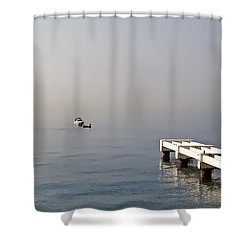 Fishing On The Riviera Shower Curtain by Jenny Hudson