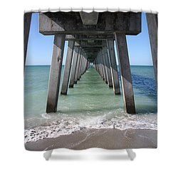 Fishing Pier Architecture Shower Curtain