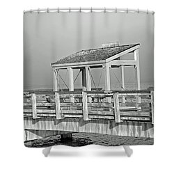 Shower Curtain featuring the photograph Fishing Pier by Tikvah's Hope