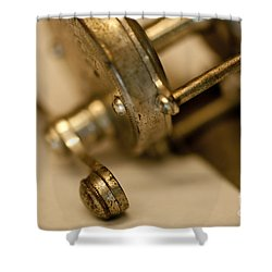 Fishing Reel  Shower Curtain