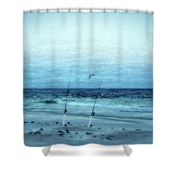 Fishing Shower Curtain by Sandy Keeton
