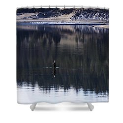 Fishing The Missouri River Shower Curtain
