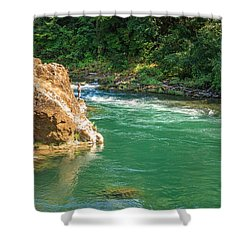 Fishing The River Shower Curtain