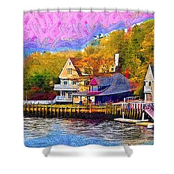Fishing Village Shower Curtain by Kirt Tisdale