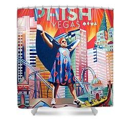 Fishman In Vegas Shower Curtain by Joshua Morton