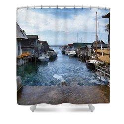 Fishtown Leland Michigan Shower Curtain