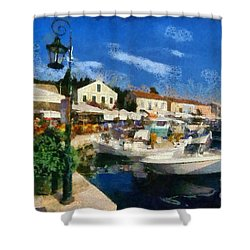 Fiskardo Town In Kefallonia Island Shower Curtain
