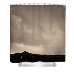 Fist Bump Of Power Sepia Shower Curtain by James BO  Insogna