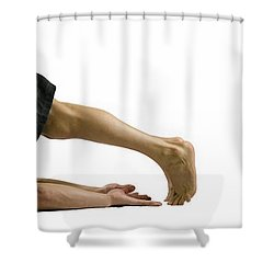 Fit To Fight Shower Curtain by Lisa Knechtel