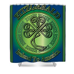 Fitzgerald Ireland To America Shower Curtain