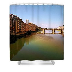 Shower Curtain featuring the photograph Fiume Di Sogni by Micki Findlay