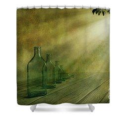 Five Bottles Shower Curtain by Veikko Suikkanen