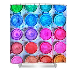 Five By Four Watercolor Shower Curtain by Heidi Smith