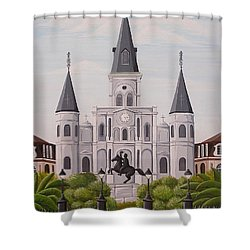 Five Fifteen In New Orleans Shower Curtain