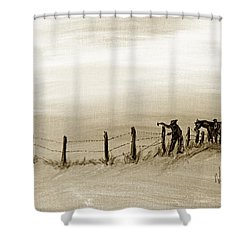 Fix On The Prairie Shower Curtain