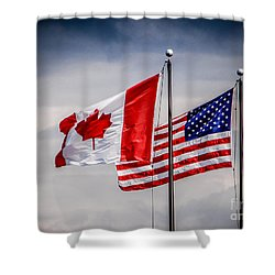 Flag Duo Shower Curtain