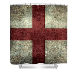 Flag Of England St Georges Cross Vintage Version To Scale Shower Curtain