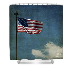 Flag - Still Standing Proud - Luther Fine Art Shower Curtain