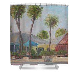Flagler Beach Shops Shower Curtain
