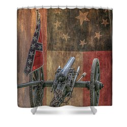 Flags Of The Confederacy Shower Curtain