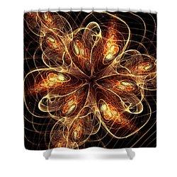 Flame Flower Shower Curtain by Anastasiya Malakhova