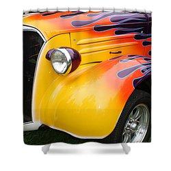 Flame Job Shower Curtain by Terry Fleckney
