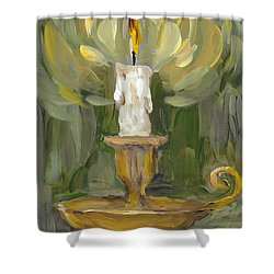 Shower Curtain featuring the painting Flame by Maria Langgle