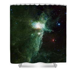 Flame Nebula Shower Curtain by Adam Romanowicz