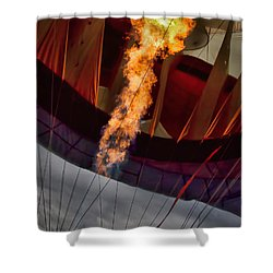 Flame On Two Shower Curtain by Bob Orsillo
