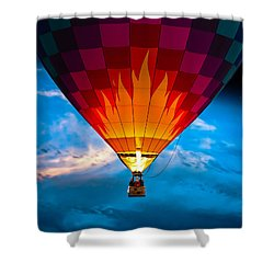 Flame With Flame Shower Curtain by Bob Orsillo