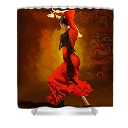 Flamenco Dancer 0013 Shower Curtain by Catf