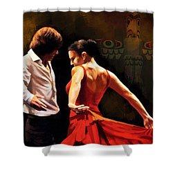 Flamenco Dancer 012 Shower Curtain by Catf