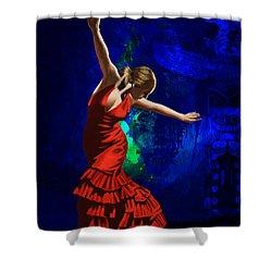 Flamenco Dancer 014 Shower Curtain by Catf