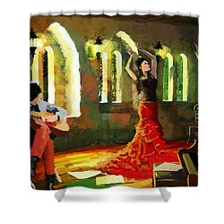 Flamenco Dancer 017 Shower Curtain by Catf