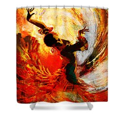 Flamenco Dancer 021 Shower Curtain by Mahnoor Shah