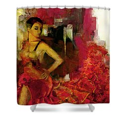 Flamenco Dancer 024 Shower Curtain by Catf