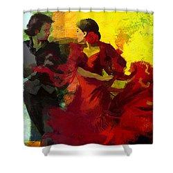 Flamenco Dancer 025 Shower Curtain by Catf