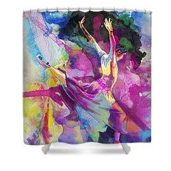 Flamenco Dancer Shower Curtain by Catf